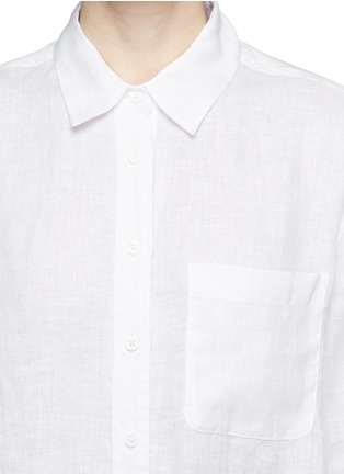 Detail View - Click To Enlarge - Equipment - 'Daddy Tie Front' linen broadcloth shirt