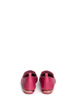 Back View - Click To Enlarge - Nicholas Kirkwood - 'Bottalato' metallic heel leather loafers
