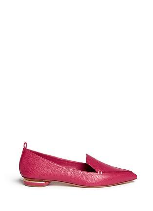 Main View - Click To Enlarge - Nicholas Kirkwood - 'Bottalato' metallic heel leather loafers