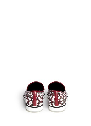 Back View - Click To Enlarge - Nicholas Kirkwood - Floral print slip-ons