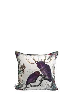 KRISTJANA S WILLIAMS'Twin Owl' cotton cushion