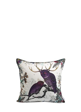 - Kristjana S Williams - Twin Owl cotton cushion