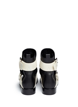 Back View - Click To Enlarge - Pierre Hardy - Colourblock double buckle ankle boots