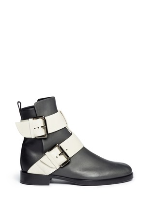 Main View - Click To Enlarge - Pierre Hardy - Colourblock double buckle ankle boots