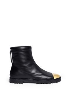 GIUSEPPE ZANOTTI DESIGN'Dalila' metal toe cap leather boots