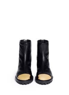 GIUSEPPE ZANOTTI DESIGN 'Dalila' metal toe cap leather boots