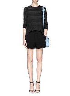 RAG & BONE 'Platini' leather trim shorts