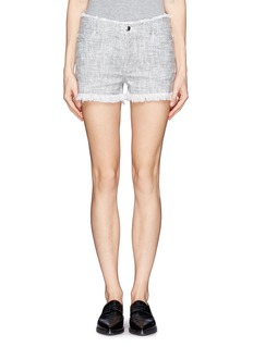 T BY ALEXANDER WANG Fringed cotton shorts
