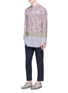 kolorFloral print colourblock long shirt