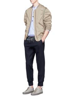 kolorRuched sleeve bomber jacket