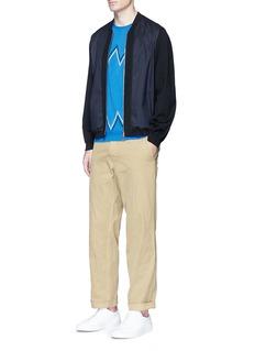 TomorrowlandZigzag dot cotton knit T-shirt