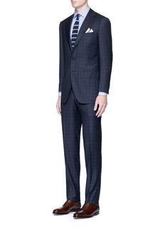 TomorrowlandCheck plaid Summer Wish® wool-silk suit