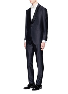 Tomorrowland Silk shawl lapel wool tuxedo blazer