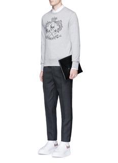 Alexander McQueenSkull crest print organic cotton sweatshirt