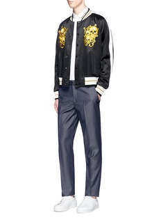 Alexander McQueen Tailored wool-mohair denim pants
