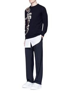 Alexander McQueenSkull paisley intarsia wool-cashmere sweater