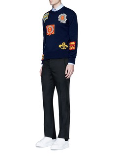 Alexander McQueenCrest jacquard cotton sweater
