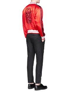 Alexander McQueenSkull paisley embroidered satin souvenir jacket
