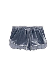 Love Stories'Audrey H' velvet pyjama boxer shorts