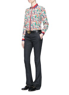 Gucci Vintage polka dot wool blend flared pants