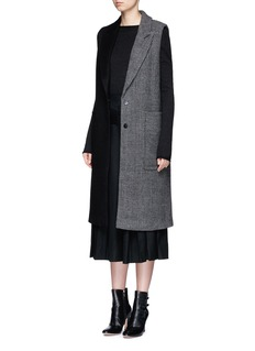 MO&CO. EDITION 10 Patchwork wool blend sleeveless coat