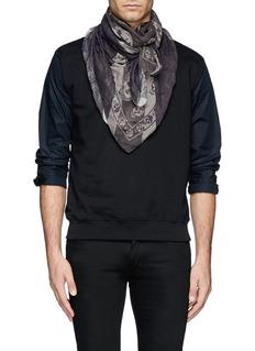 Alexander McQueen Union Jack skull modal-silk scarf