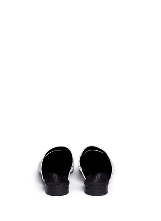 Back View - Click To Enlarge - Opening Ceremony - 'Livre' embossed leather slide mules