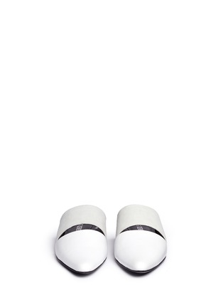 Front View - Click To Enlarge - Opening Ceremony - 'Livre' embossed leather slide mules