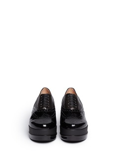 ROBERT CLERGERIE Yedilh bi-texture leather platform lace-ups