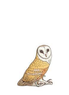 SILKEN FAVOURS'Alain The Owl' silk cushion
