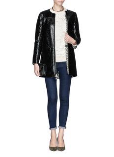 TORY BURCH'Jade' reversible jacquard coat