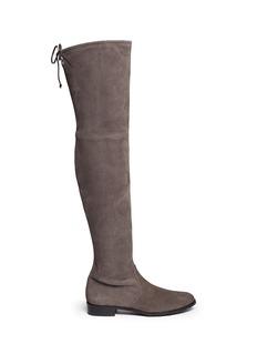 Stuart Weitzman'Lowland' stretch suede thigh high boots