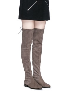 Stuart Weitzman 'Lowland' stretch suede thigh high boots