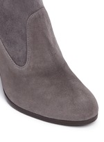'Mitten' stretch suede ankle boots