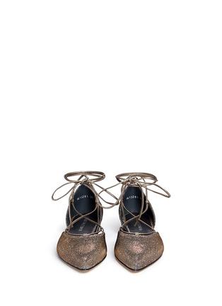 Stuart Weitzman-'Gilligan' lace-up glitter flats