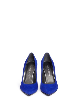 Front View - Click To Enlarge - Stuart Weitzman - 'Heist' suede pumps
