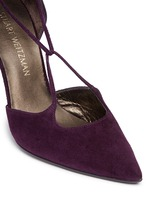 'On A String' lace-up suede d'Orsay pumps