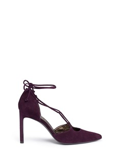 Stuart Weitzman'On A String' lace-up suede d'Orsay pumps