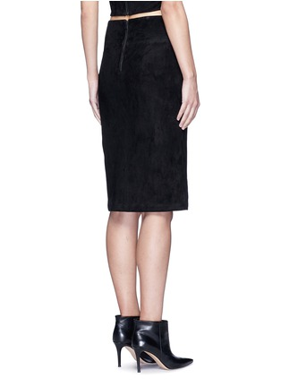Back View - Click To Enlarge - alice + olivia - 'Tani' lambskin suede pencil skirt