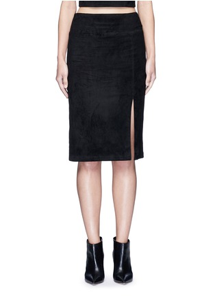 Main View - Click To Enlarge - alice + olivia - 'Tani' lambskin suede pencil skirt