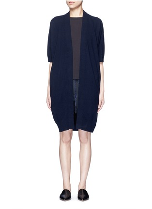 Main View - Click To Enlarge - Vince - Short sleeve cashmere cardigan