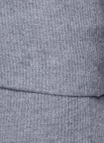 Foldable waist rib knit wool skirt