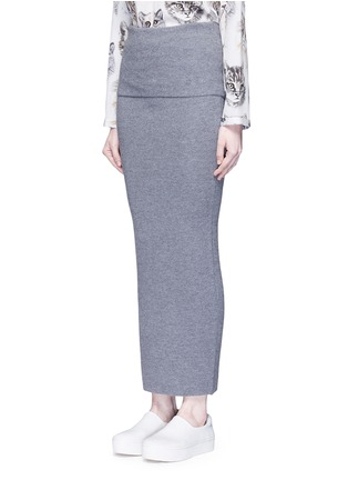 Front View - Click To Enlarge - Stella McCartney - Foldable waist rib knit wool skirt