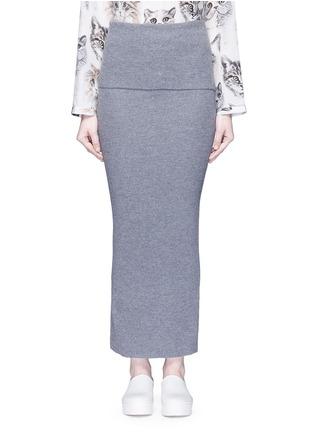 Main View - Click To Enlarge - Stella McCartney - Foldable waist rib knit wool skirt