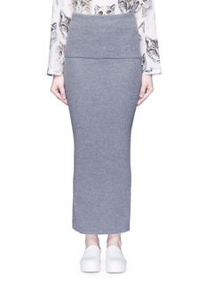 Stella McCartney Foldable waist rib knit wool skirt