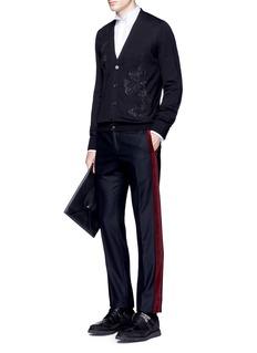 Alexander McQueenButterfly embroidery wool-silk cardigan