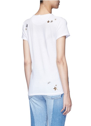 Back View - Click To Enlarge - Valentino - Embellished metallic star jersey T-shirt