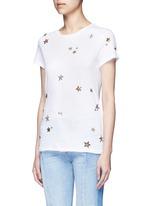 Embellished metallic star jersey T-shirt