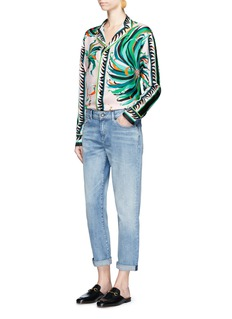 Emilio PucciCactus flower print silk pyjama shirt