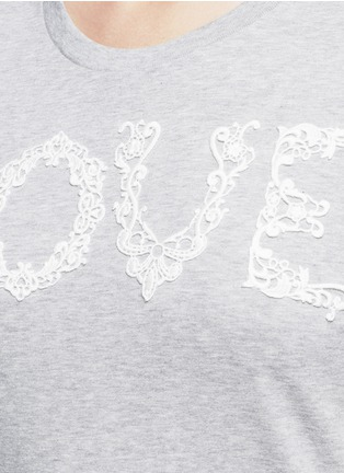 Detail View - Click To Enlarge - Dolce & Gabbana - 'Love' lace slogan jersey T-shirt